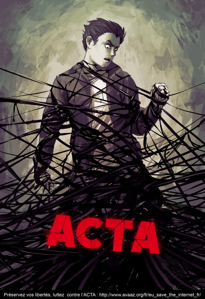 Affiches tegen ACTA #stopacta