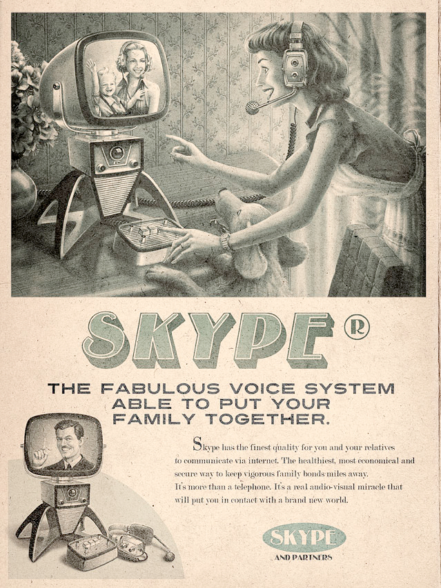 Vintage advertenties voor social media
