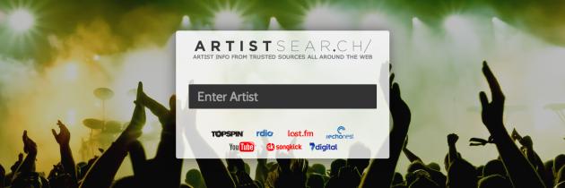 Verrijkte artiestinformatie met de webapp ArtistSear.ch