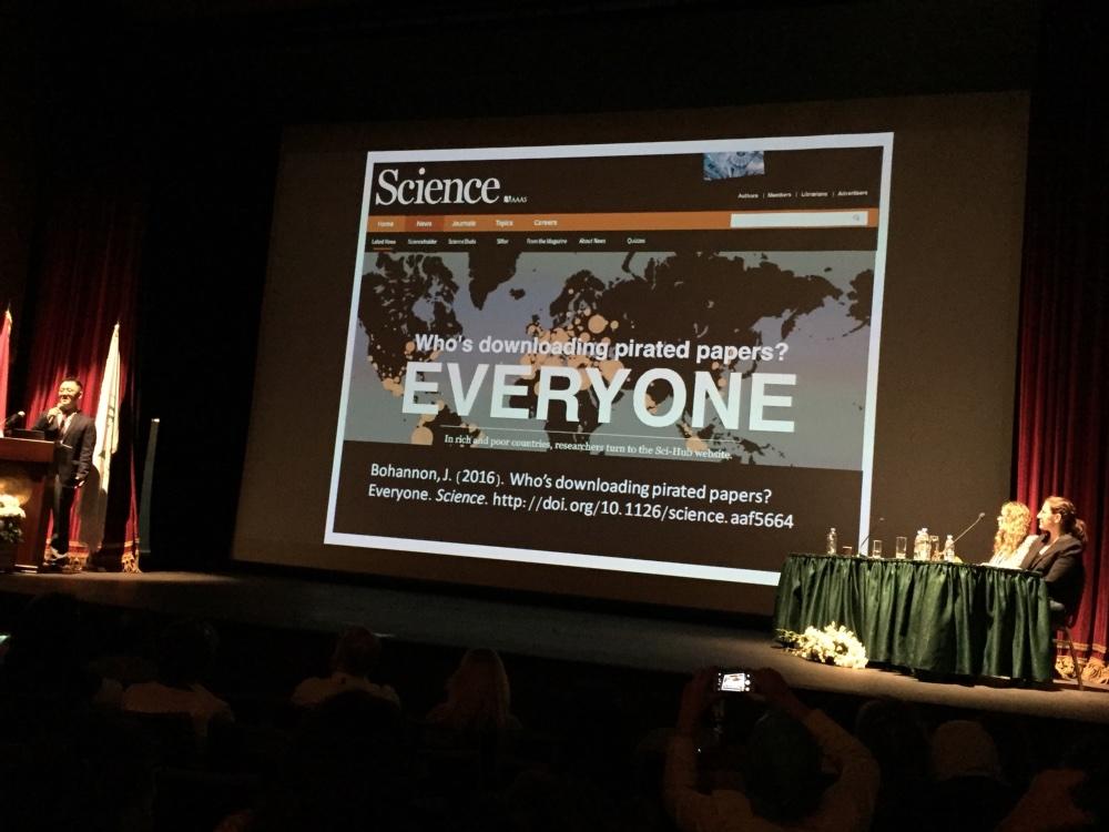 Peter Bae aan het woord over SciHub.