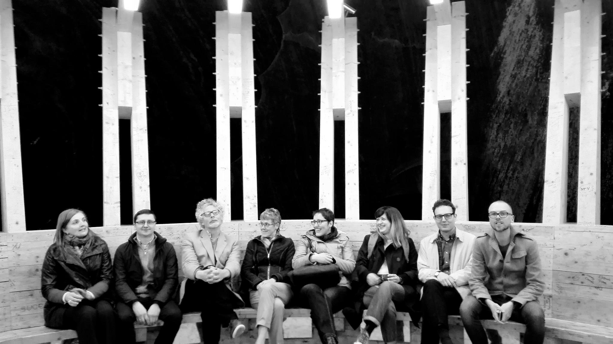 Vlnr: Sorina Stanca, Thomasz Parkola, Rob Davies, Breda Karun, Gorana Tuskan, Despina Gerasimidou, Diego Gracia, ikzelf. Niet op de foto staan Mogen Vestergaard, Nienke van Schaverbeke en Parina Vasilopoulou).