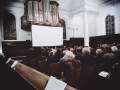 Het Vondel Kwartet speelt een strijkkwartet van Paulus Folkertsma